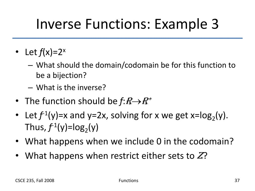 Inverse Functions: Example 3