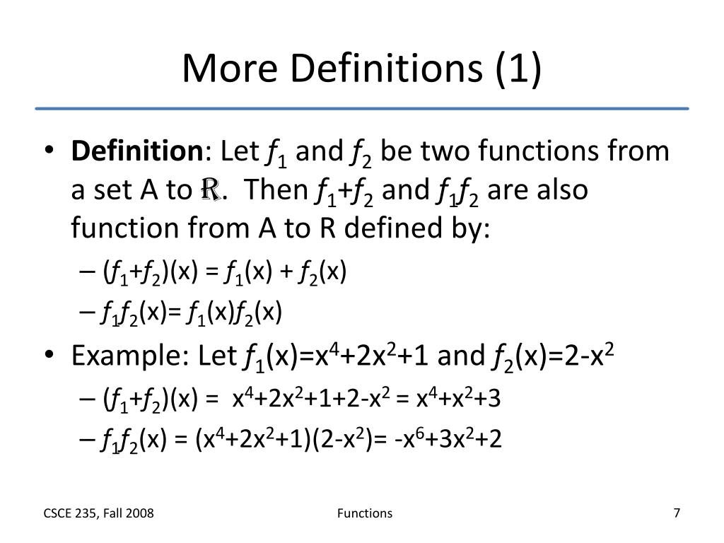 More Definitions (1)