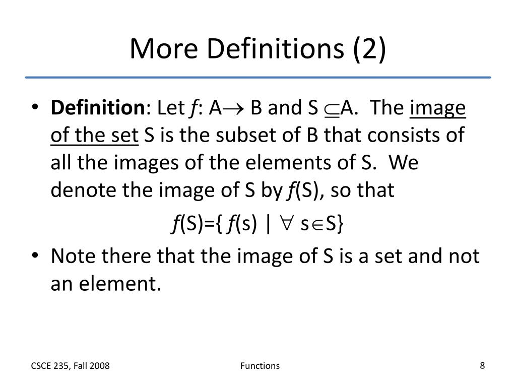 More Definitions (2)