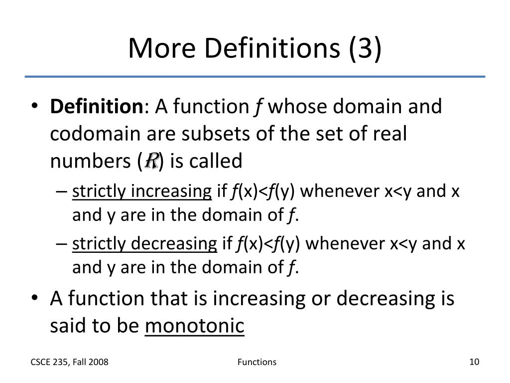 More Definitions (3)