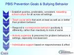 pbis prevention goals bullying behavior