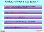 what is function based support