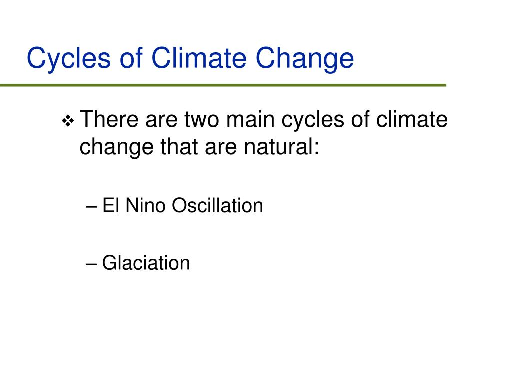 Cycles of Climate Change
