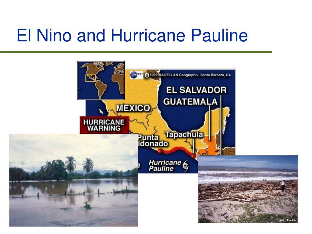 El Nino and Hurricane Pauline