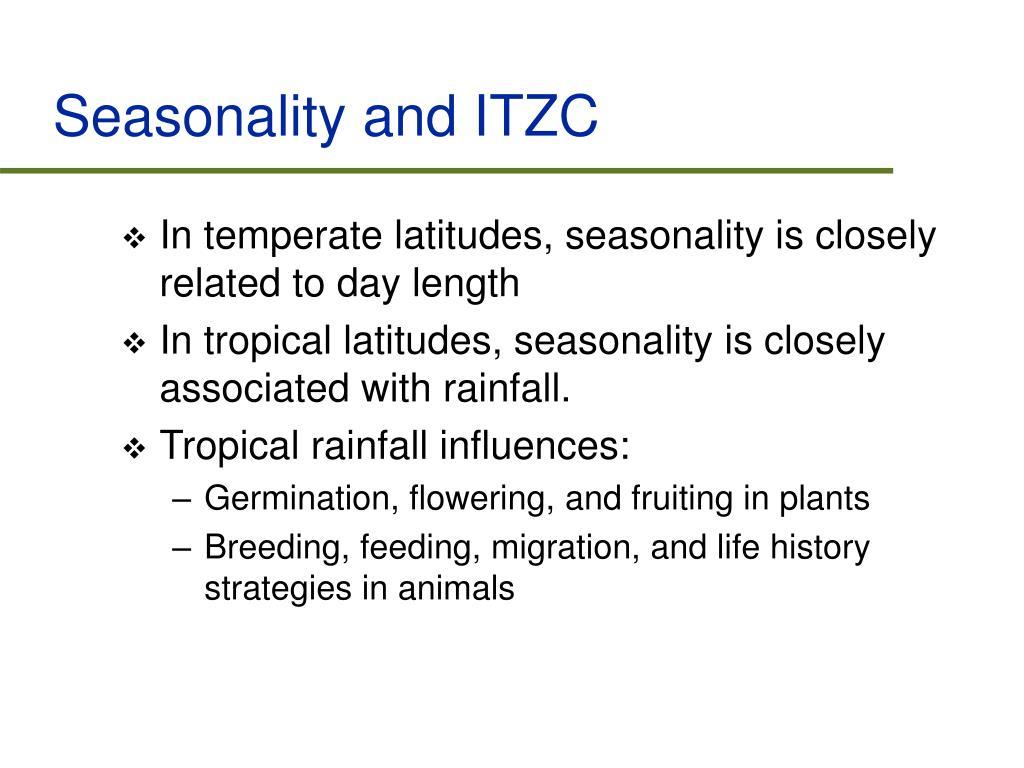 Seasonality and ITZC