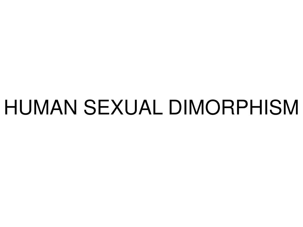 HUMAN SEXUAL DIMORPHISM