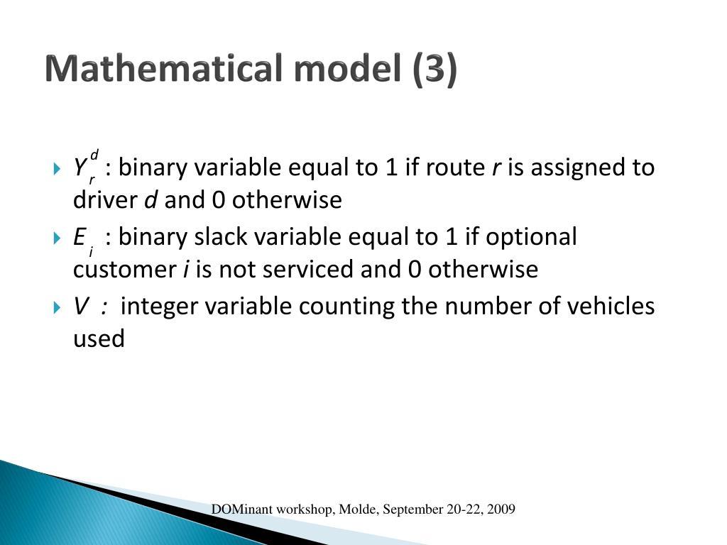 Mathematical model (3)