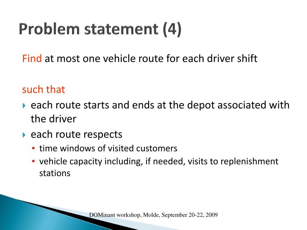 Problem statement (4)