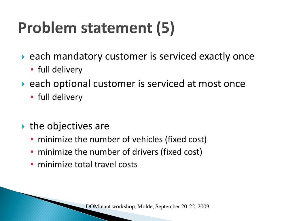 Problem statement (5)