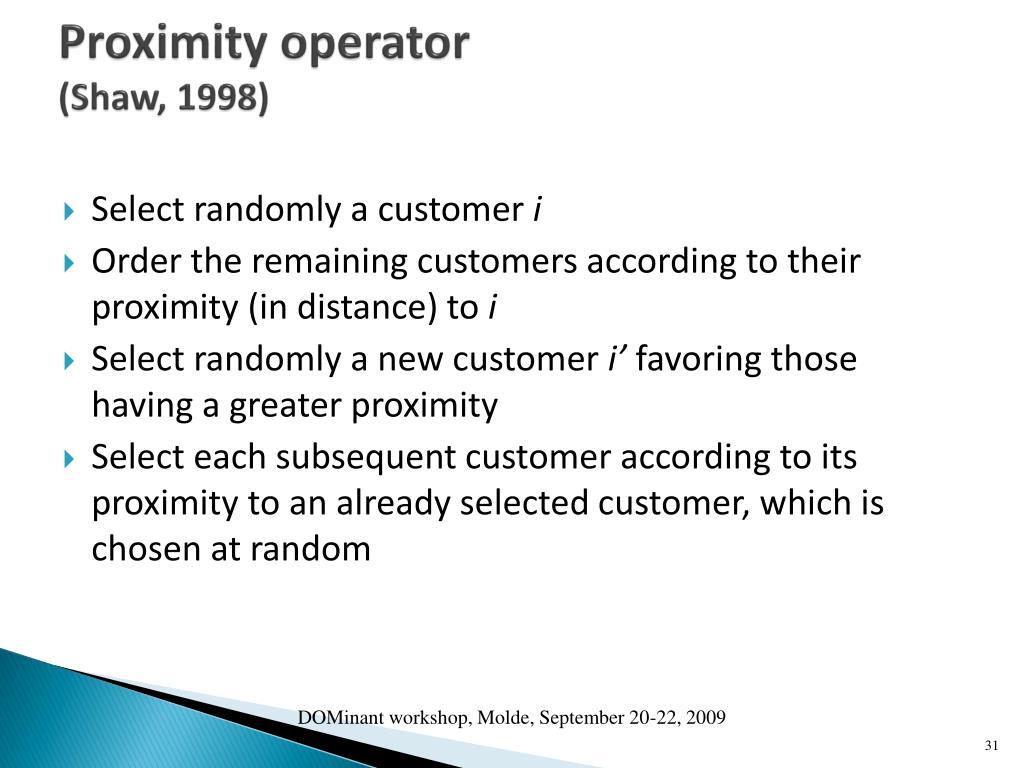 Proximity operator