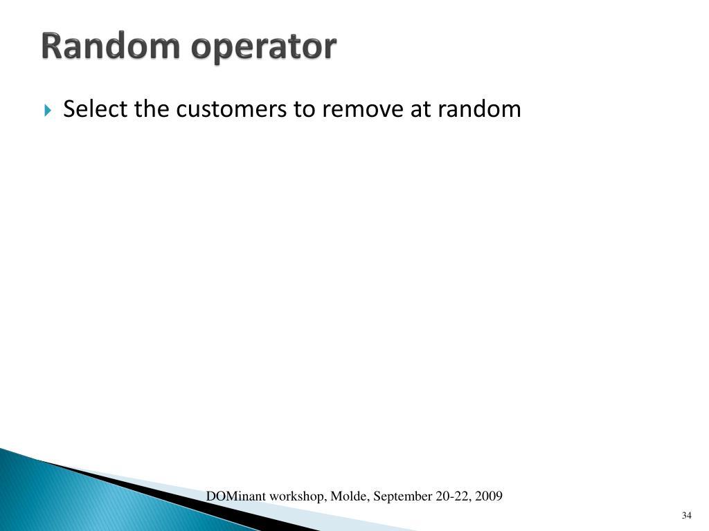 Random operator
