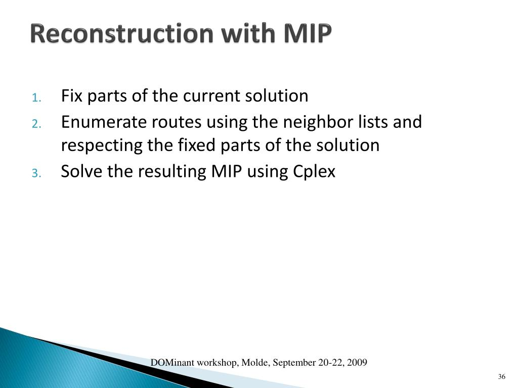 Reconstruction with MIP