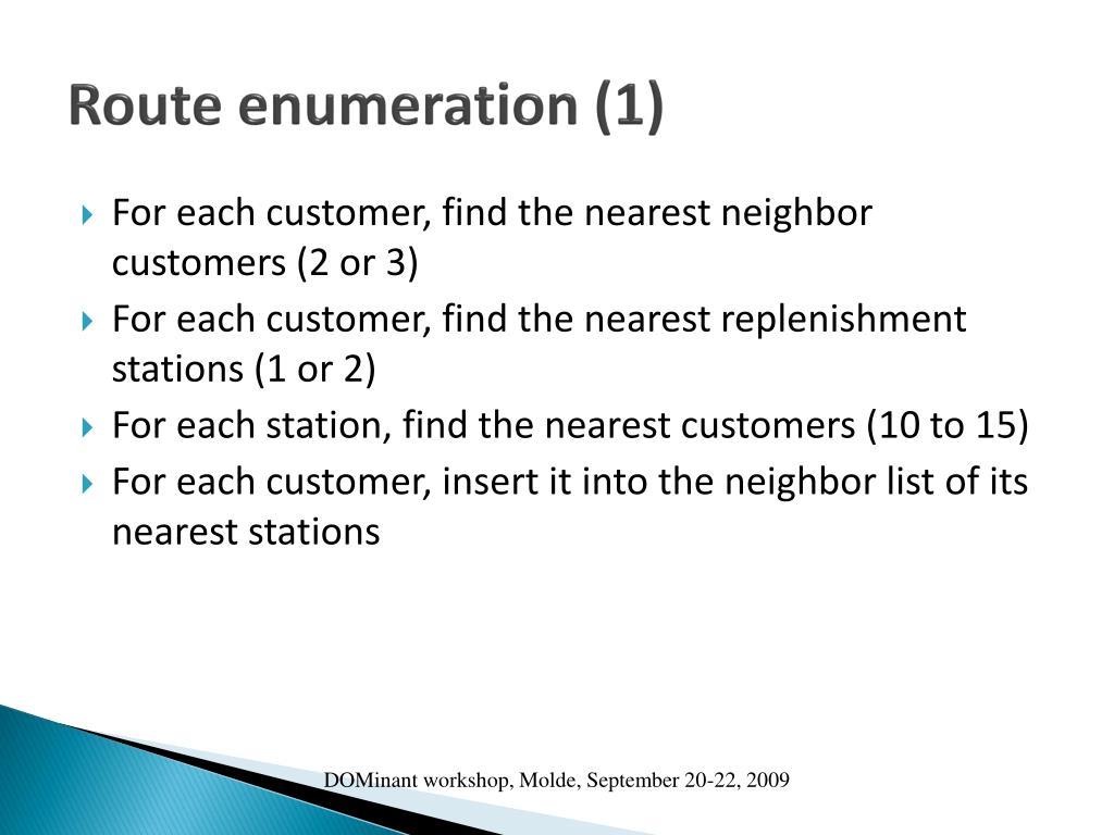 Route enumeration (1)
