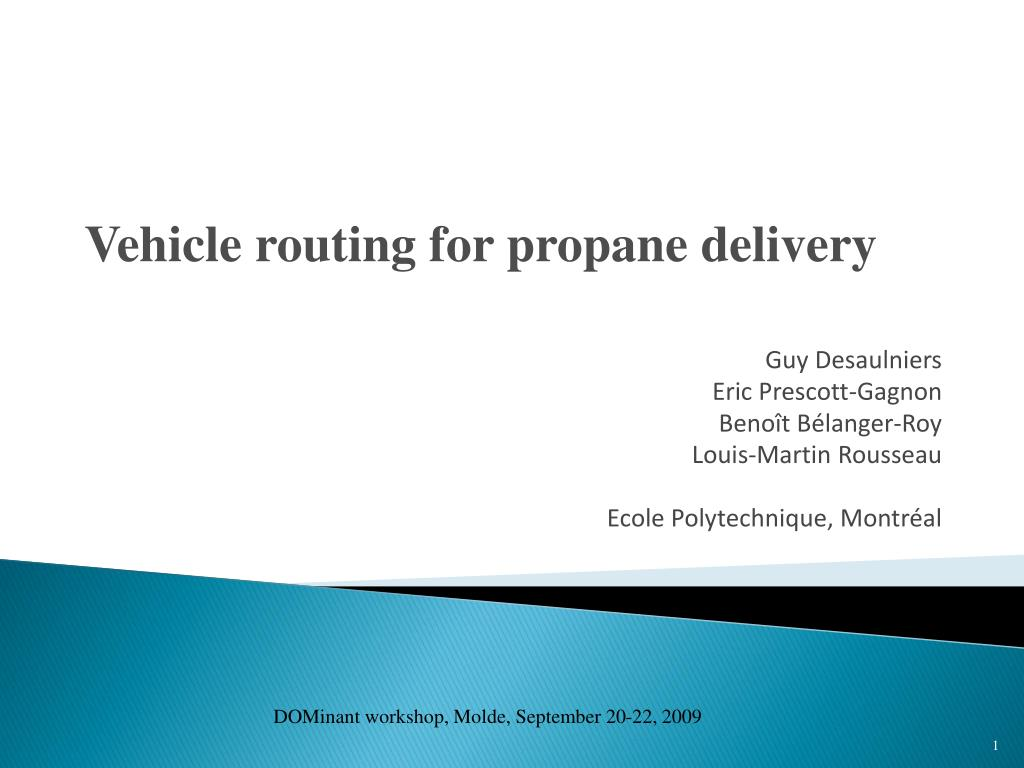 Vehicle routing for propane delivery