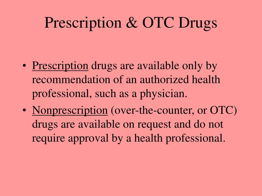 Prescription & OTC Drugs