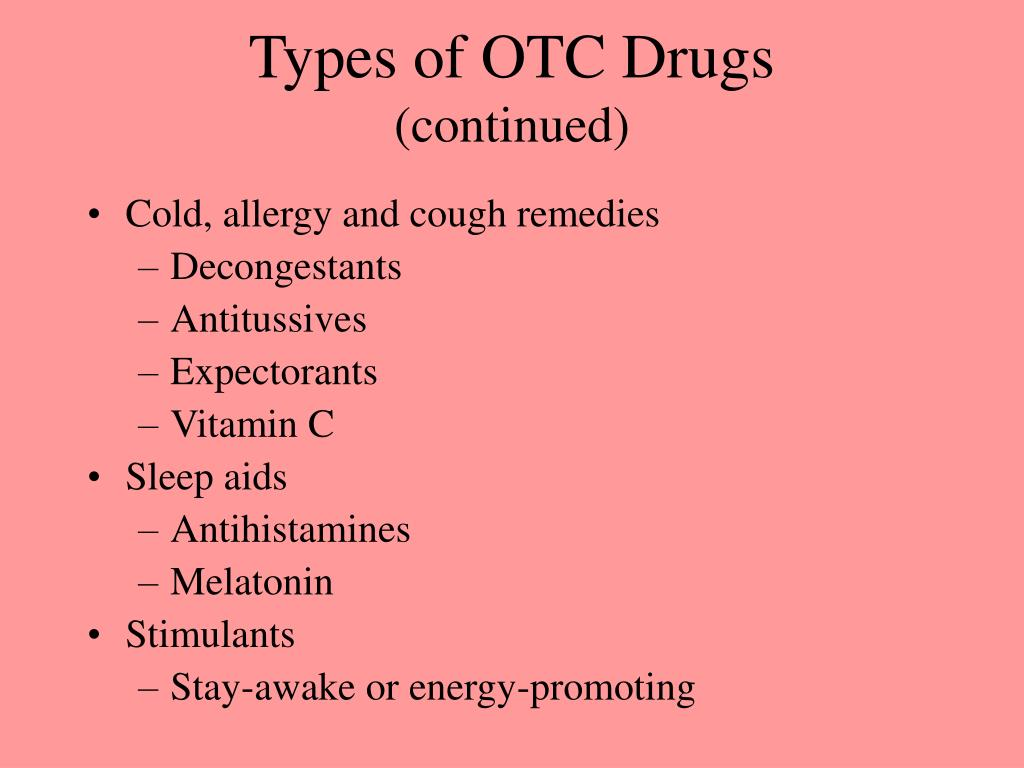 Types of OTC Drugs
