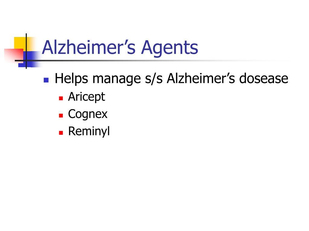 Alzheimer's Agents