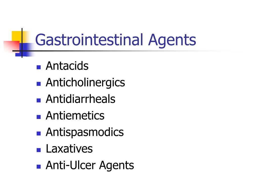 Gastrointestinal Agents