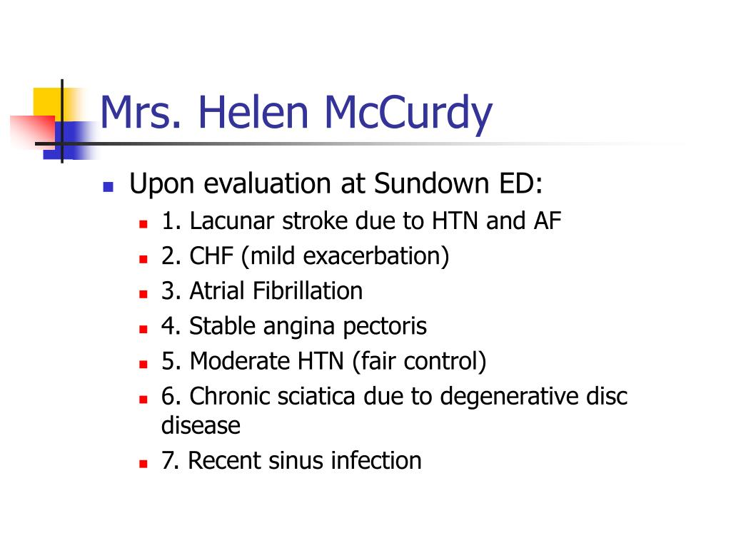 Mrs. Helen McCurdy