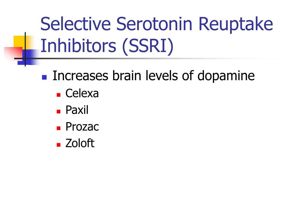 Selective Serotonin Reuptake Inhibitors (SSRI)
