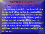 device related nosocomial infection