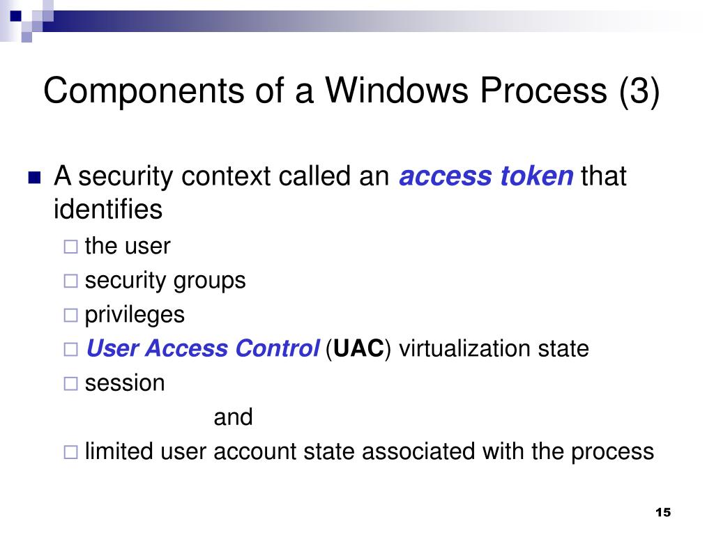 Components of a Windows Process (3)