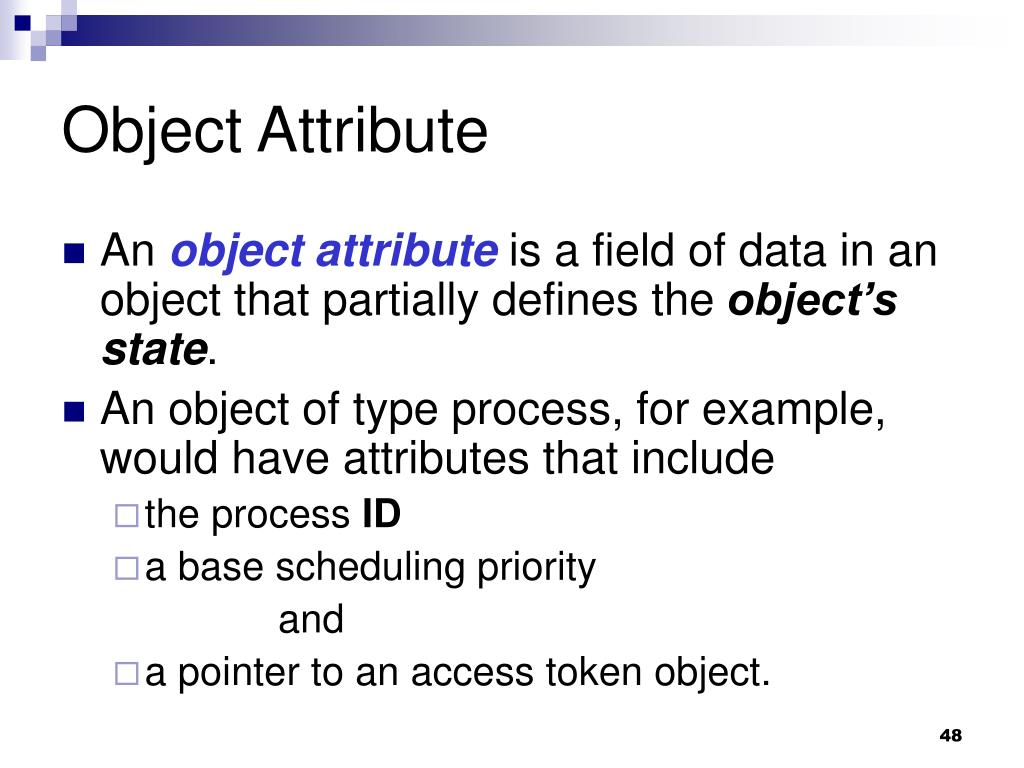 Object Attribute