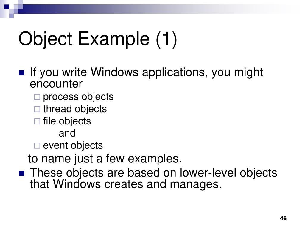 Object Example (1)