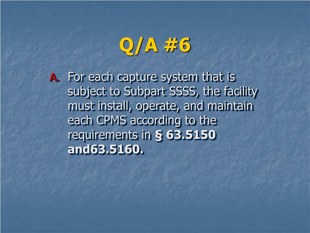 Q/A #6