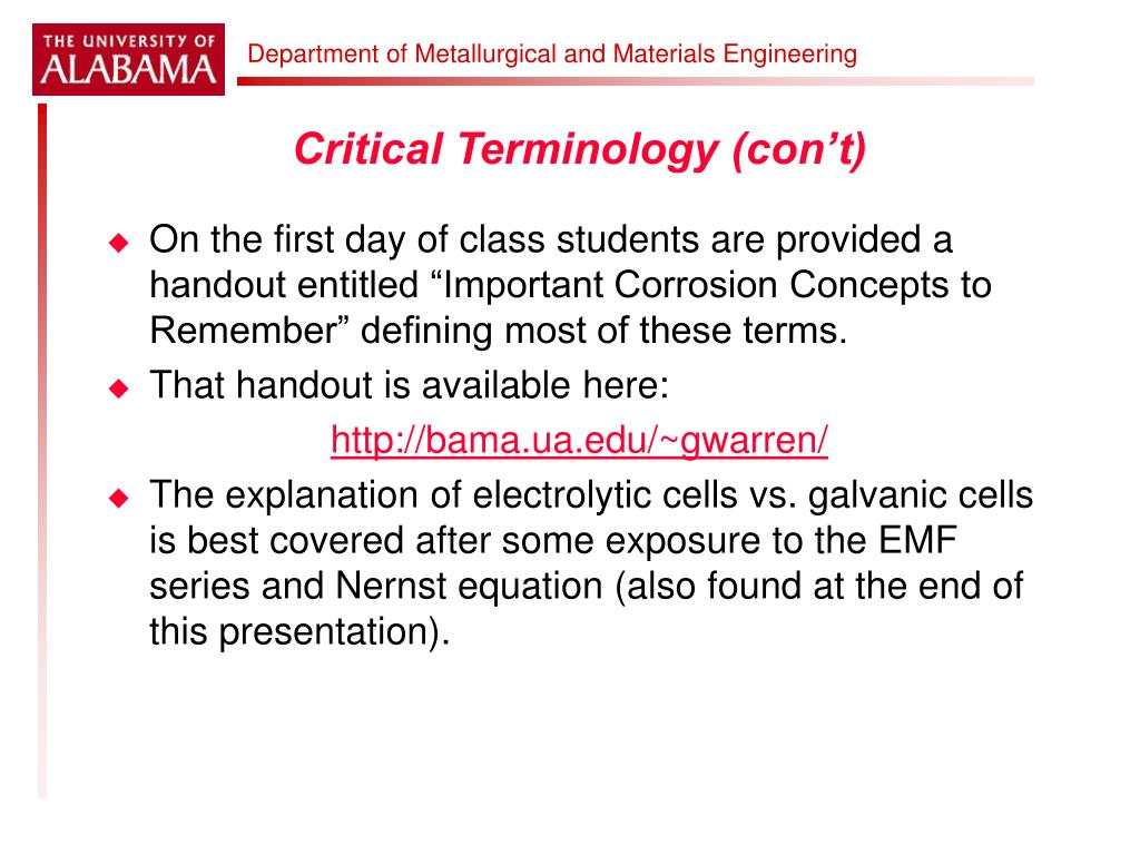 Critical Terminology (con't)