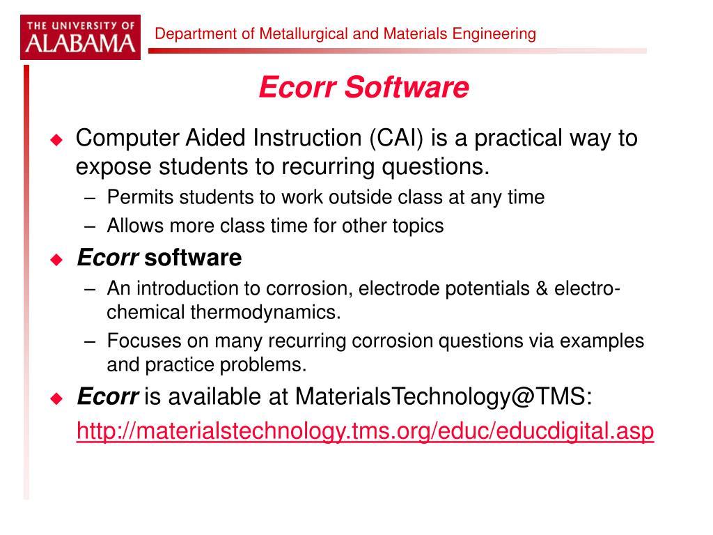 Ecorr Software