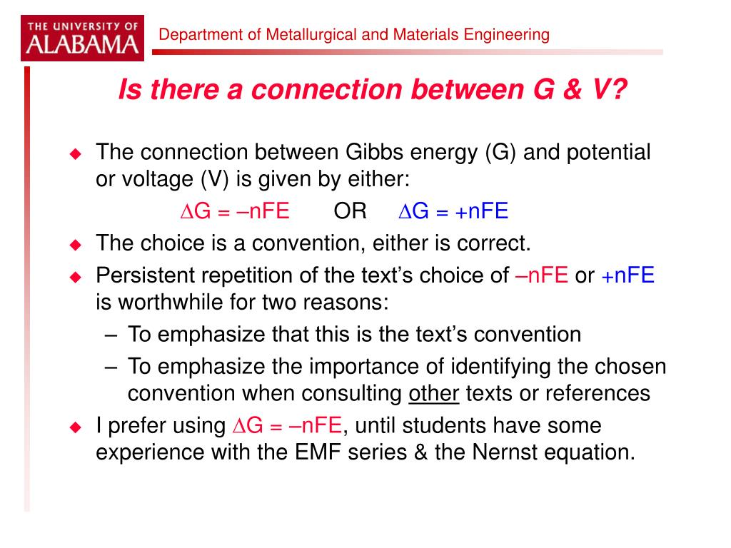 Is there a connection between G & V?