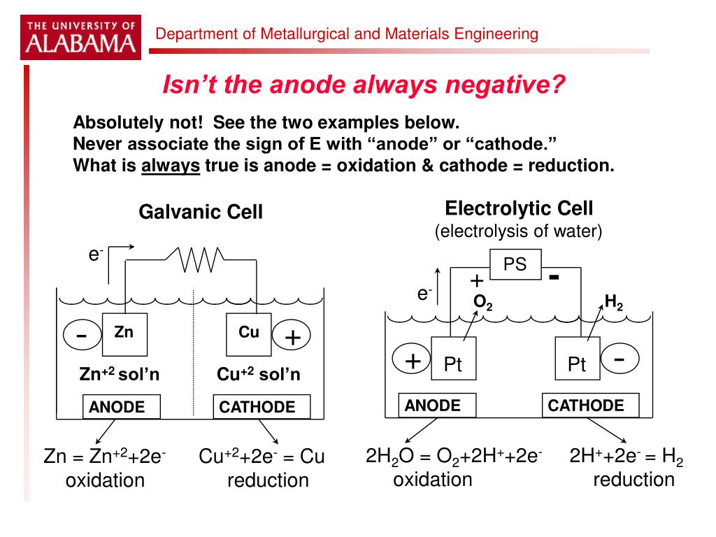 Isn't the anode always negative?