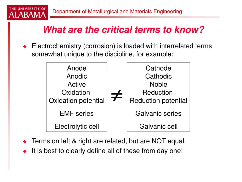 What are the critical terms to know?