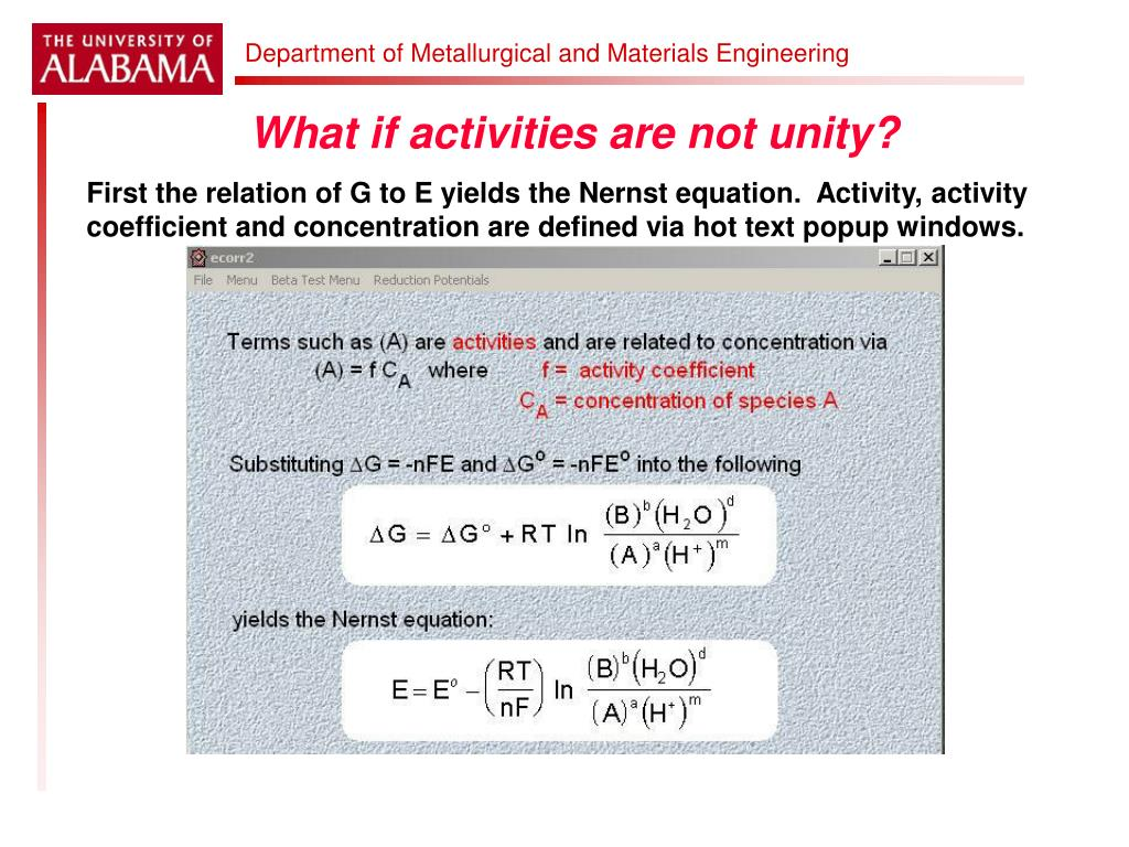 What if activities are not unity?