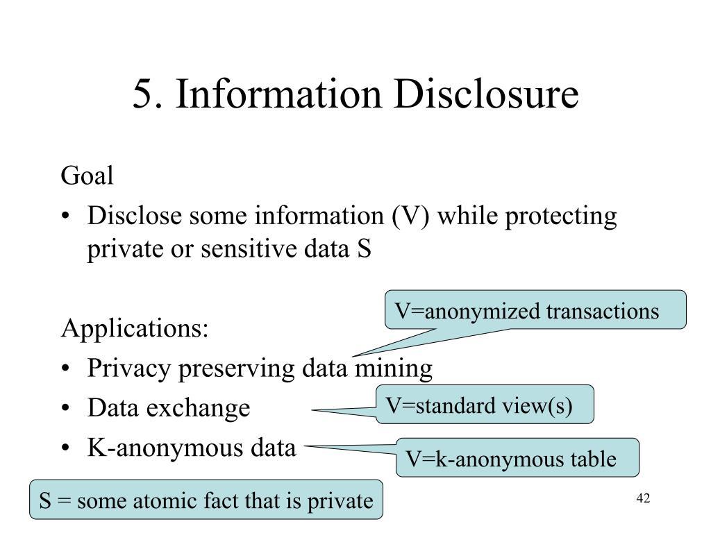 5. Information Disclosure