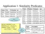 application 1 similarity predicates80