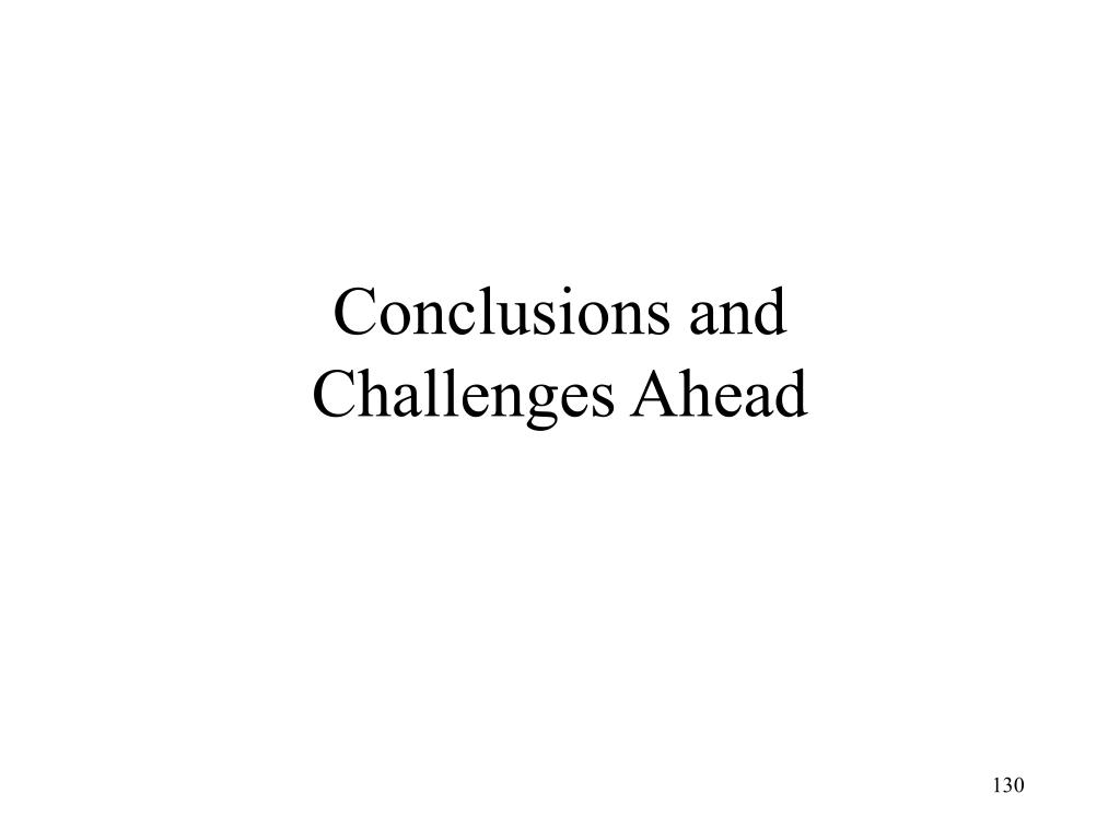 Conclusions and
