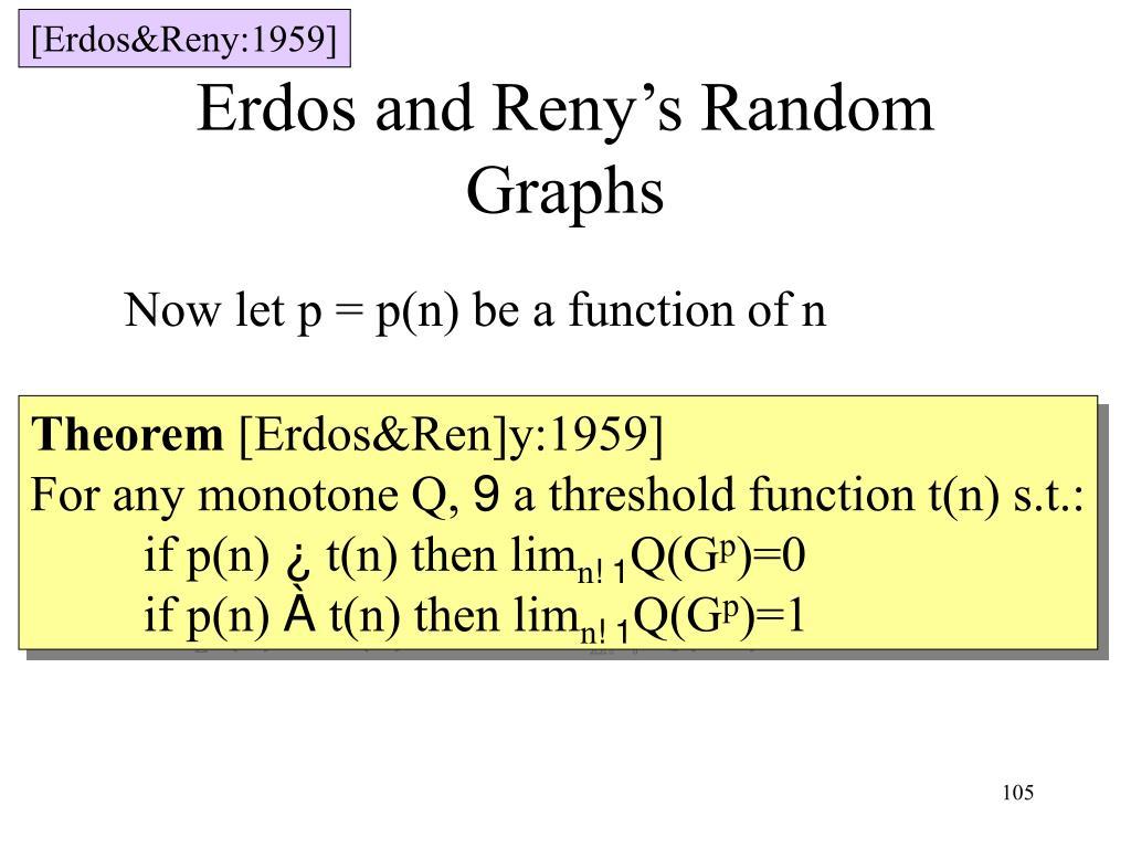 [Erdos&Reny:1959]