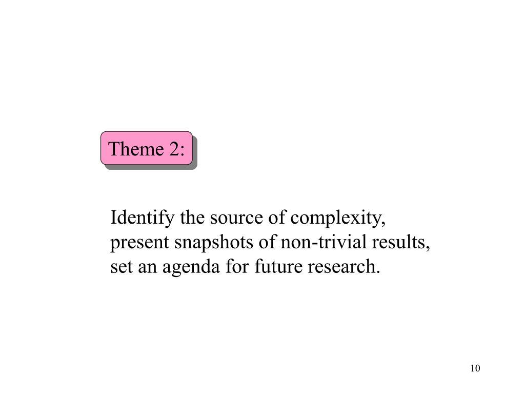 Theme 2: