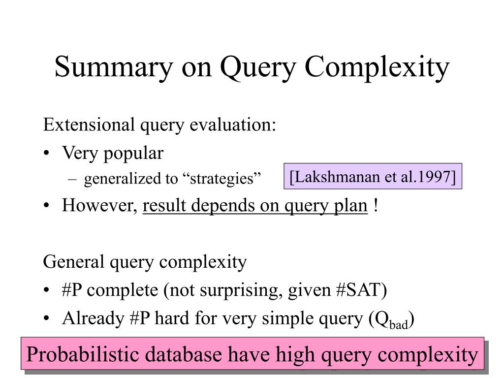 Summary on Query Complexity
