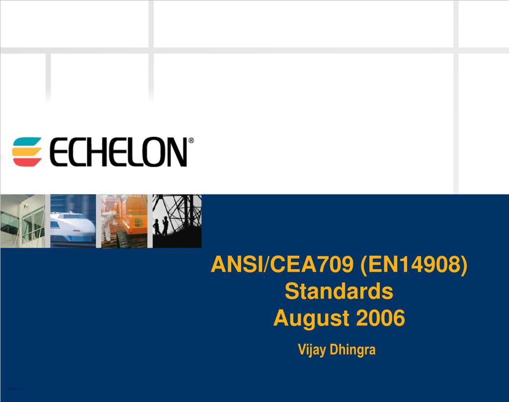 ANSI/CEA709 (EN14908) Standards