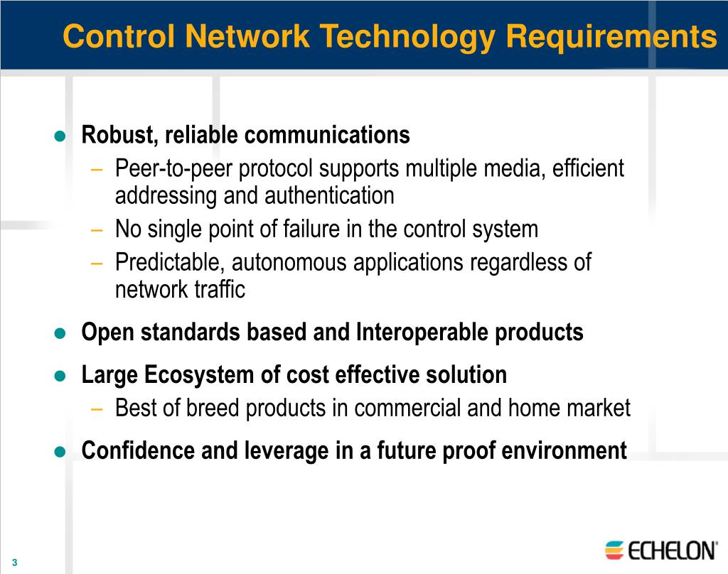 Control Network Technology Requirements