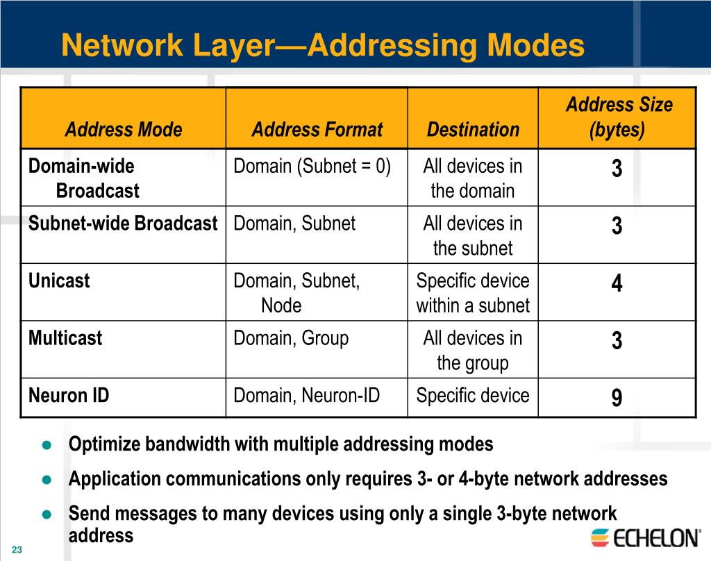 Network Layer—Addressing Modes