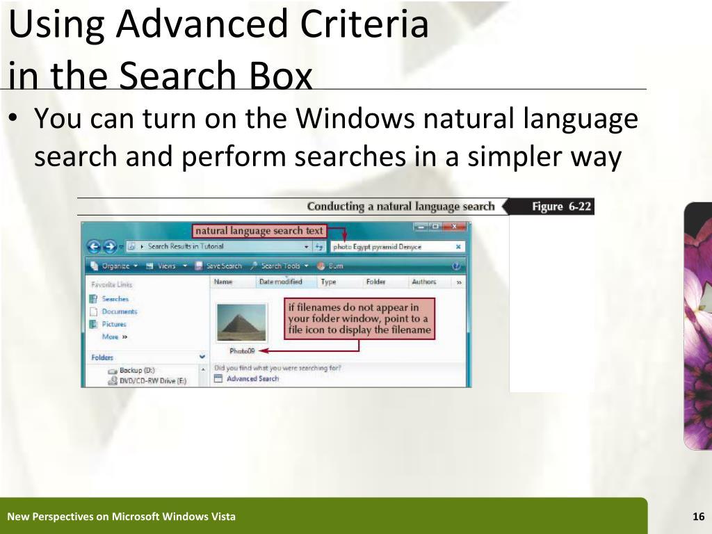 Using Advanced Criteria