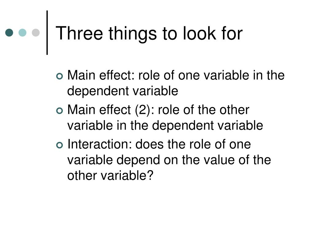 Three things to look for