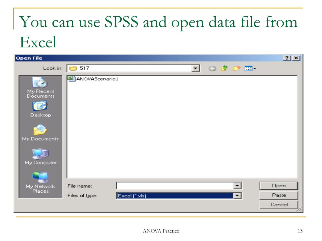 You can use SPSS and open data file from Excel