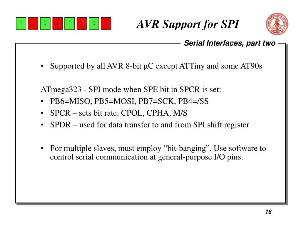 AVR Support for SPI