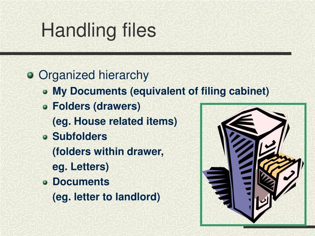 Handling files