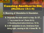 causing another to sin matthew 18 1 93